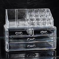 FUNIQUE Przejrzyste Walizce wielowarstwowa PS Skrzynki Opakowania & Display Box Craft Organizator Storage Box Set Biżuteria Biżuteria Box