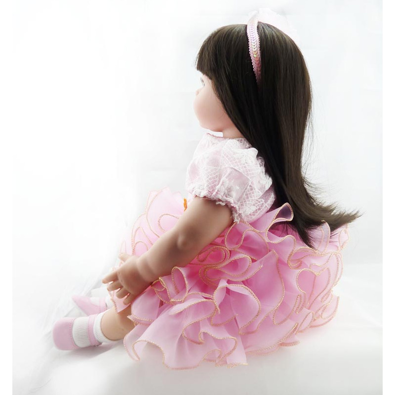 New Arrival 20 inch Handmade Baby Toy Cotton Realistic Soft Silicone Reborn Babies Doll Newborn Baby Doll Reborn Girls Gift Toys