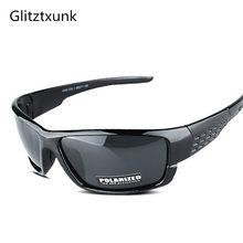 acf9cd97fa Gafas de sol polarizadas Glitztxunk para hombres y mujeres de marca cuadrada  diseño clásico hombre negro deportes gafas de sol p.