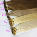 1g/s 100g Human Remy Hair Ash Brown Platinum Blonde Straight Custom Capsule Keratin U-tip or Flat-tip Human Hair Extensions