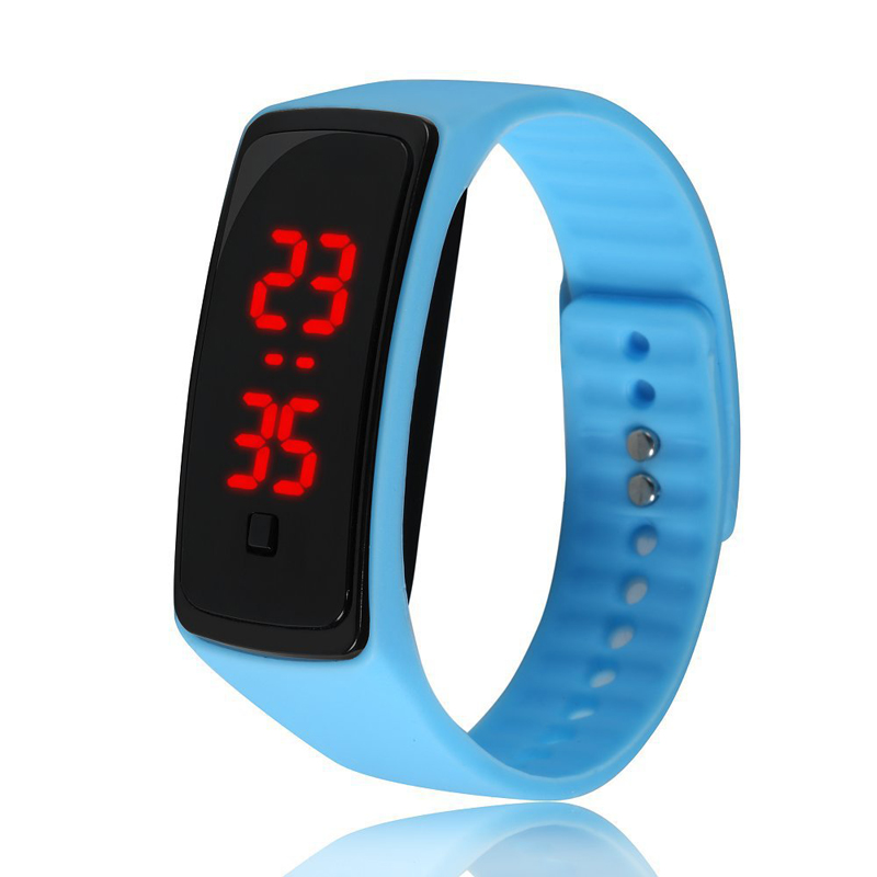 LED Watch Two Generation Silicone Electronic Child Table Bracelet Student Movement Silicone Gift Watch
