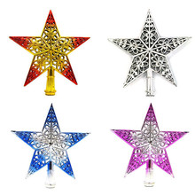 New Christmas Tree Top Sparkle Stars Hang Xmas Decoration Ornament Treetop Topper Home Haning Decorating Tool Supplies