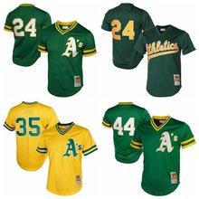 MLB herren Oakland Athletics Pete Grau Ricky Henderson Reggie Jackson Jose  Canseco Bert Campaneris TRIKOTS(