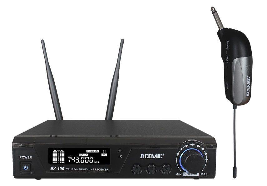 Sans fil Guitare Système EX-100/GT-1 Pro UHF 100 m Sans Fil Électrique Guitare Microphone Emetteur Récepteur De Musique de Basse instrument