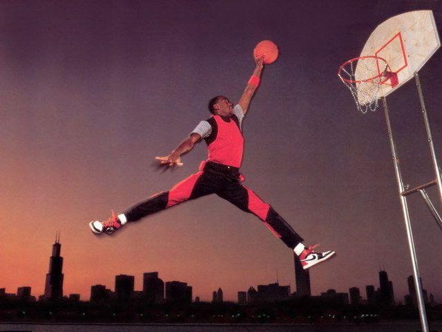 63 Michael Jordan Slam Dunk Jump 32x24 Poster