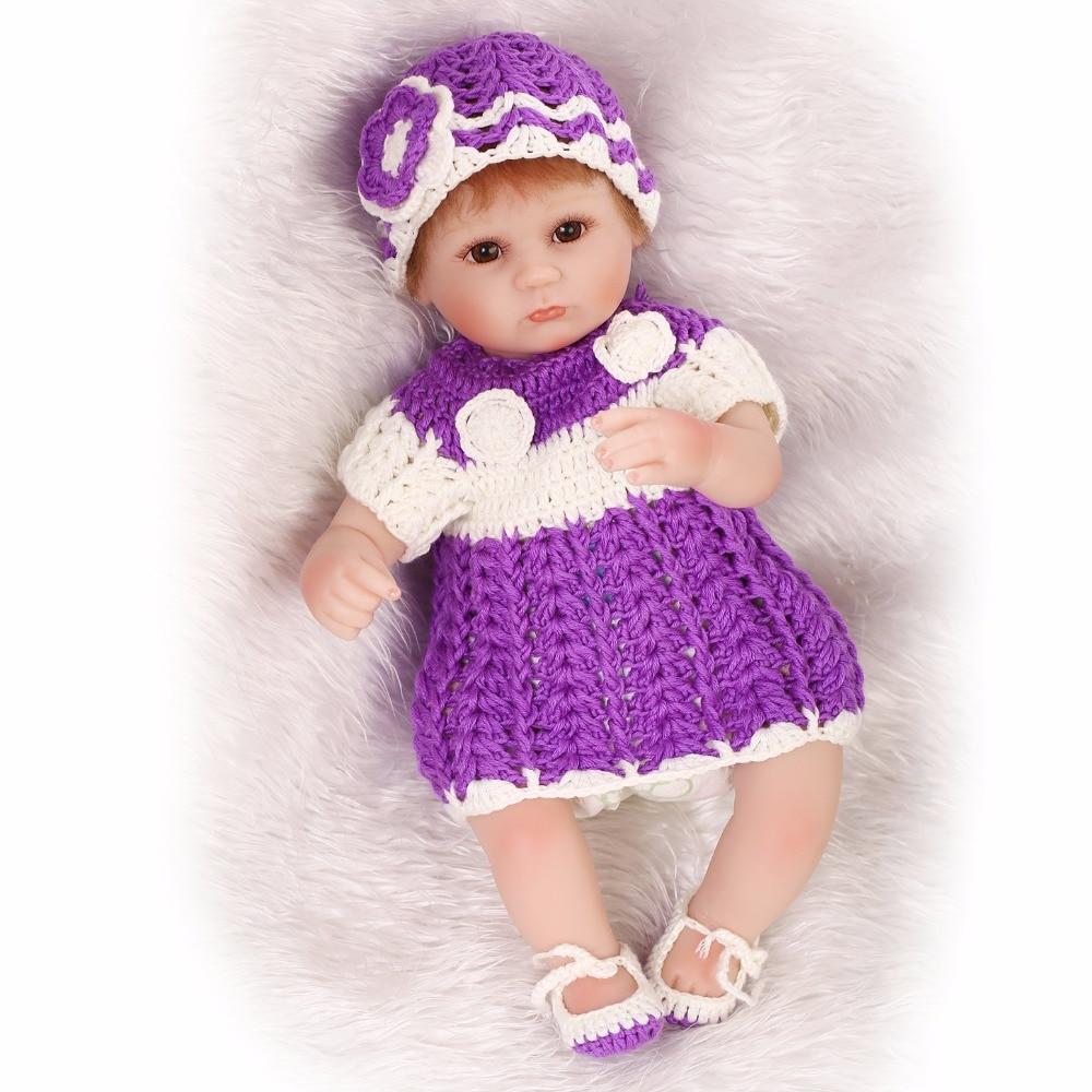 Silicone doux Reborn bébé poupée vraie poupée vivante pour les filles vinyle jouets en peluche main au crochet vêtements réalistes Bonecas reborn