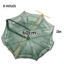 Folded Portable 4/6/8/16 hole Very large Fishing Net shrimp