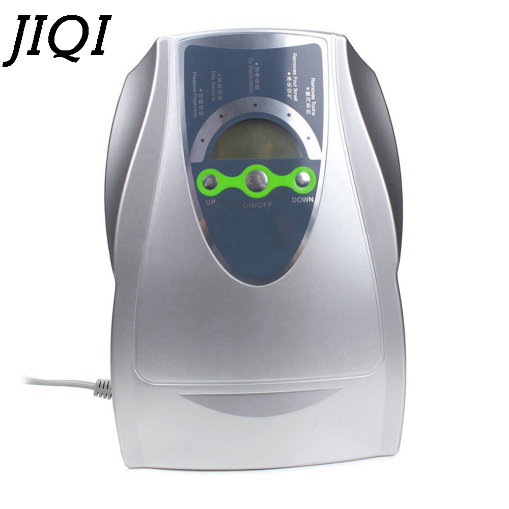 JIQI Ultrasonic fruit vegetable Deodorizer oxygen Ionizer Disinfector 500mg/h Ozone Generator Sterilizer Air Purifier 110V 220V 220v 5g quartz tube ozone machine household ozone disinfector ozone generator parts