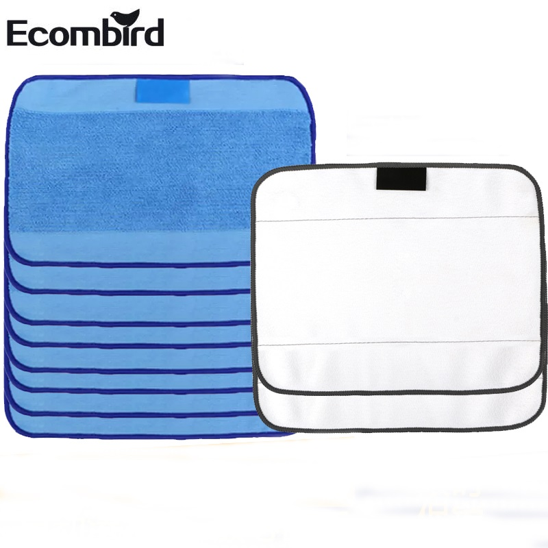 For irobot Braava Minit 4200 5200 5200C 380 380t with Microfiber 8pcs Wet and 2pcs Dry Dweeping Pro-Clean Mopping Cloths braava
