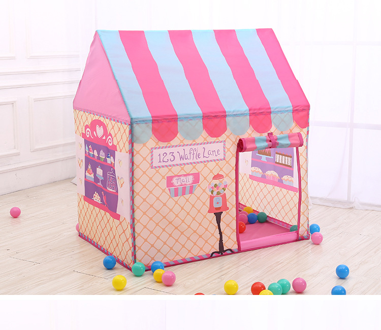 YARD Pink Kids Toys Tents Elegant Kids Play Tent Baby Boy Girl Princess Castle Outdoors House Children Play Ball Pool Tents baby foldable tents pink play house for camping kids ball pit outdoor toys