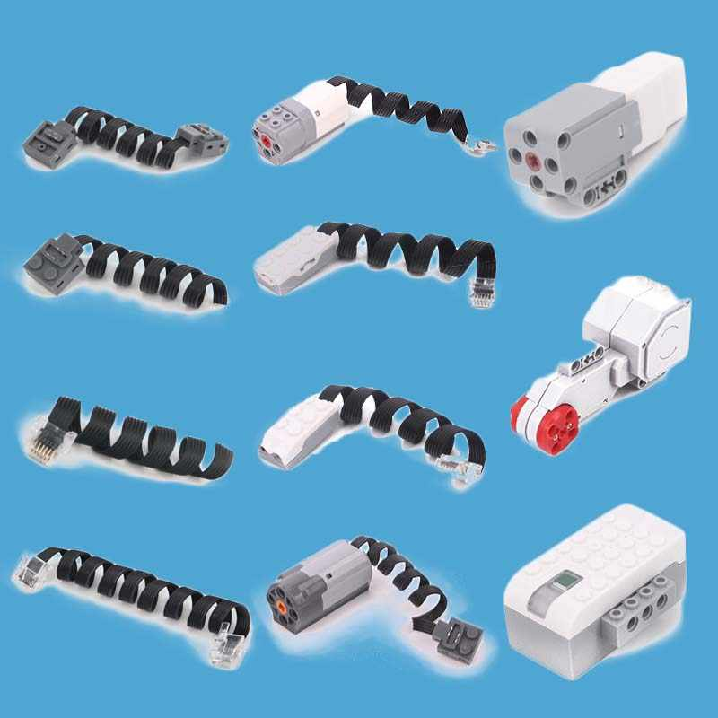 TECHNIC POWER FUNCTIES EXTENSION WIRE KABEL CONNECTOR KRISTAL FIT VOOR EV3 & WEDO2.0 ROBOTBIT ROSBOT BAKSTEEN BLOKKEN SPEELGOED