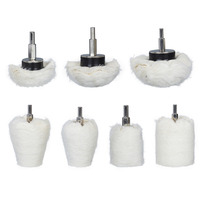7Pcs Metal Aluminum Steel Jewelry Wood Flannelette Polishing Buffing Wheel Kit Abrasive Tool