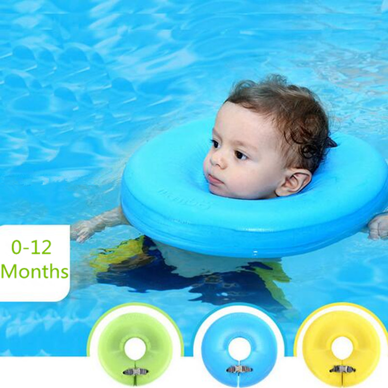 Mambobaby High Quality Safety Baby Need Not Inflatable Floating Ring Round The Neck Round