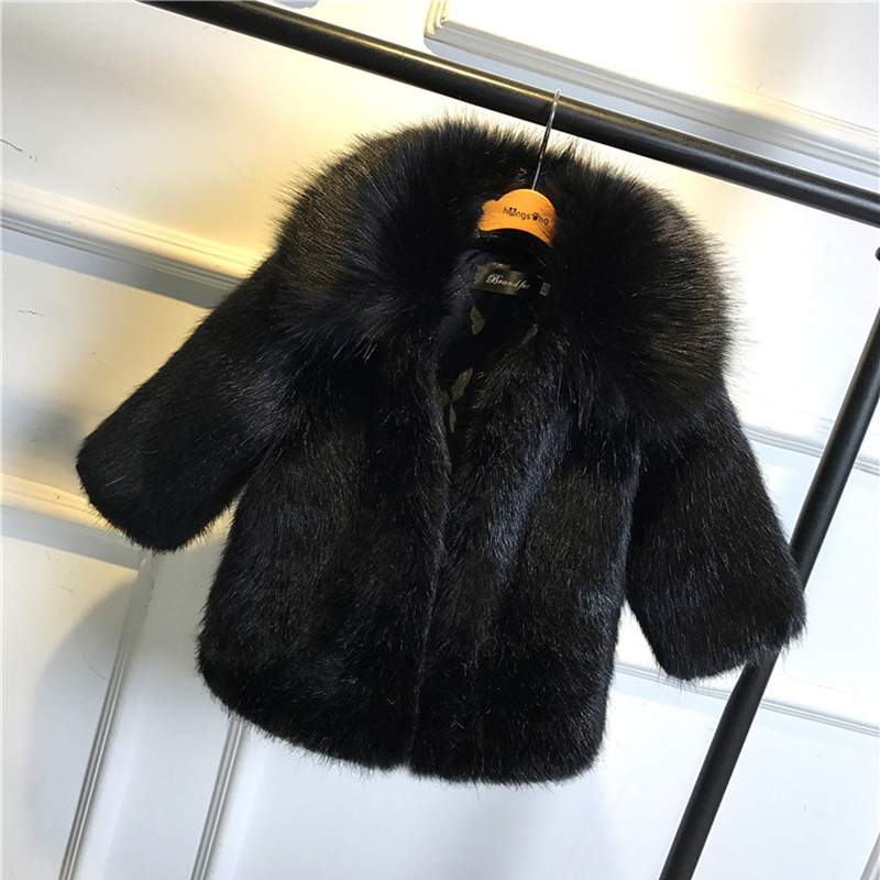 Cold Winter Boys Girls Fur Coats Parkas Faux Fur Jackets For Girls Baby Boy Thicken Warm Hooded Coat Kids Snow Wear Outerwear children winter coats jacket baby boys warm outerwear thickening outdoors kids snow proof coat parkas cotton padded clothes