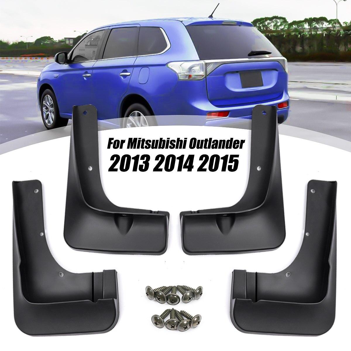 4 Mud Flaps Splash Guard Fender Car Mudguard forMitsubishi Outlander 2013-2015