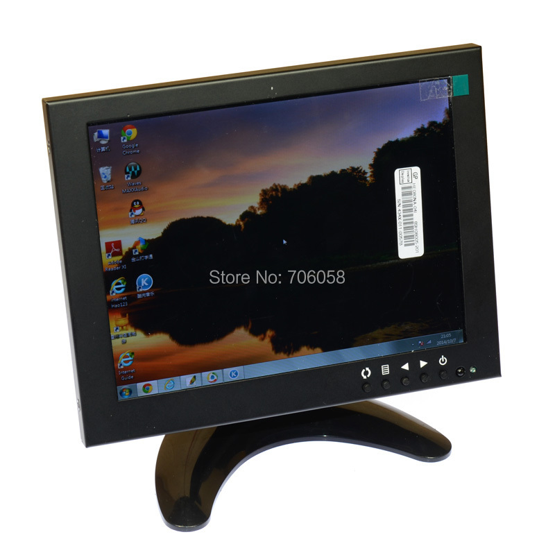 8 inch LCD Monitor Color Screen BNC/TV AV VGA HD Remote Control for PC CCTV Computer Game Security buy monitor or tv for computer