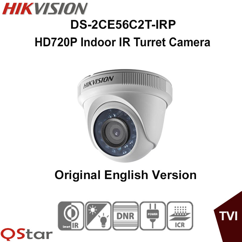 Hikvision Original English Version DS-2CE56C2T-IRP Turbo HD720P Bullet Camera DNR, Smart IR 20m True Day/Night CCTV Camera irit irp 01 мини