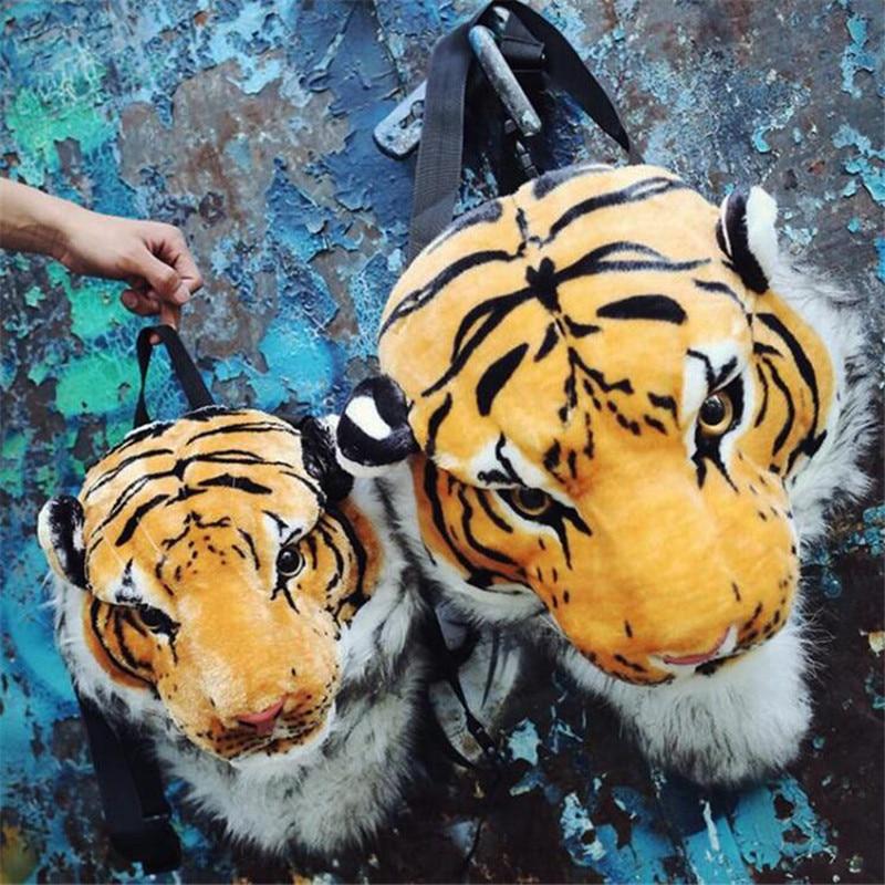 Hot New Animal Tiger Backpack Lion Black Panther Cosplay Costumes Props Bag Adult Children 3D Life-Like White Tiger Backpack