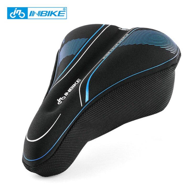 INBIKE 2 Size <font><b>Bike</b></font> Bicycle Saddle Cover Memory Foam Cycling Seat Mat Comfortable Cushion Soft Seat for MTB <font><b>Bike</b></font> Accessories