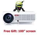 5500 люмен смарт Android 4.4 жк-телевизор led проектор full hd 1920x1080 3d домашний кинотеатр projetor видео proyector бимер