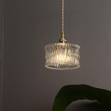Modern Clear Glass Lampshade Led Pendant Lamp Bedroom Bedside Lights Concise Cord Kitchen Restaurant Hanglamp