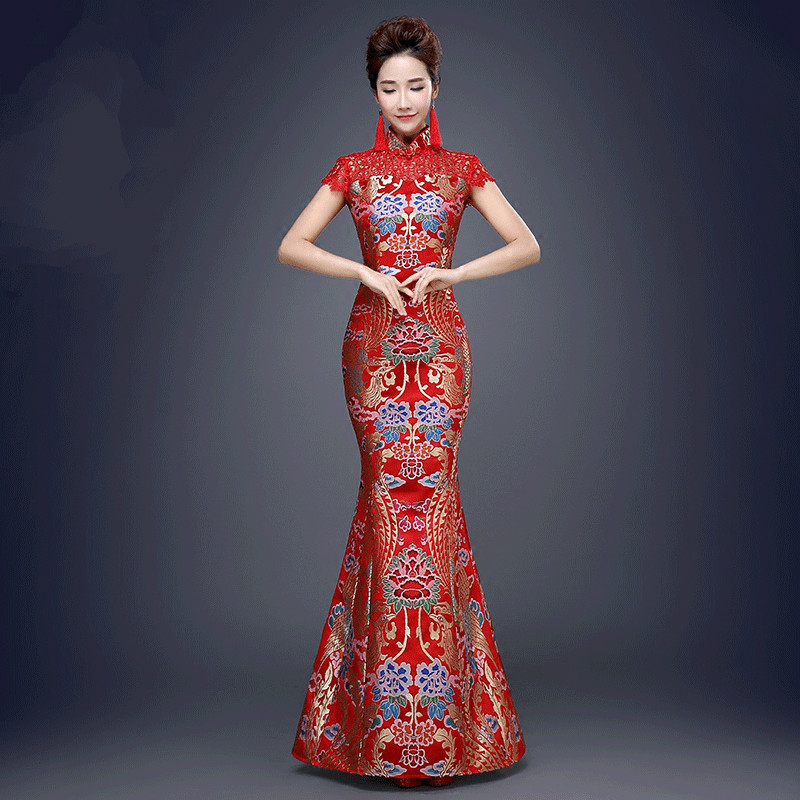 Buy women sexy chinese traditional dress for Traditional red chinese wedding dress