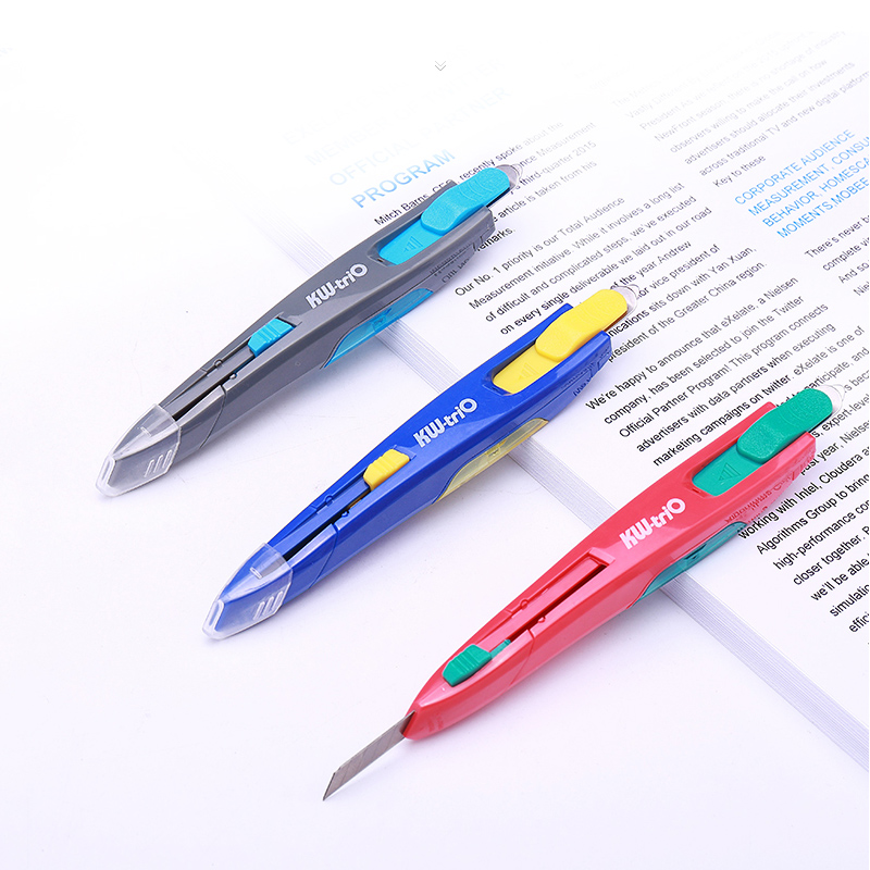 Utility Knife Large Paper Cutter Built-In Heavy Duty Nail Staple Remover Wallpaper Knife Cutting Tools Office School Supplies