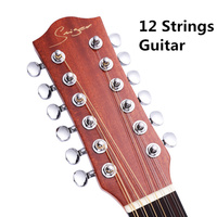 Guitar Acoustic Electric Guitars Steel String Spruce D Body Guitarra 12 Strings Folk Pop Cutaway High gloss Install Pickup