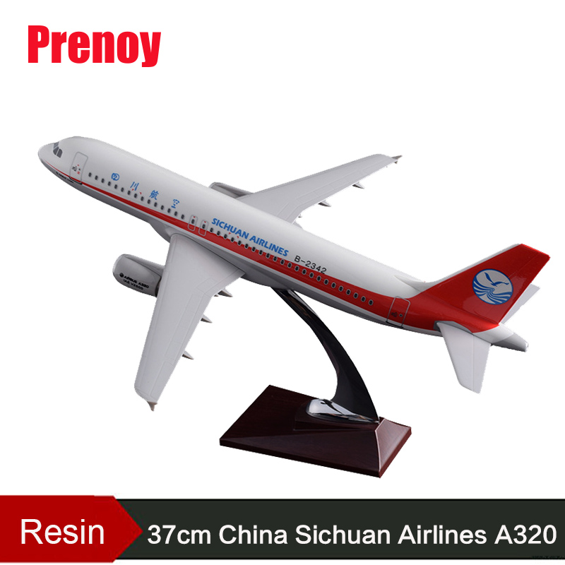 37cm Resin Sichuan Airlines Aircraft Model A320 Airplane Airways Airbus Model China Sichuan Plane Model Chinese Aviation Crafts phoenix 10948 china southern airlines b 2134 1 400 md 82 commercial jetliners plane model hobby