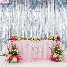 QIFU Rain Curtain Happy Birthday Party Decoration Kids Backdrop Anniversary Decor Bachelorette Wedding Supplies