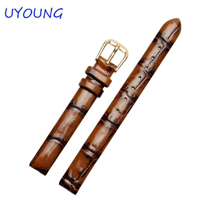 6mm 8mm 10mm High Quality Genuine Leather Watch Bands Retro Small size For Womens Watch Accessories high quality 3pcs 6mm 8mm 10mm 2 flute