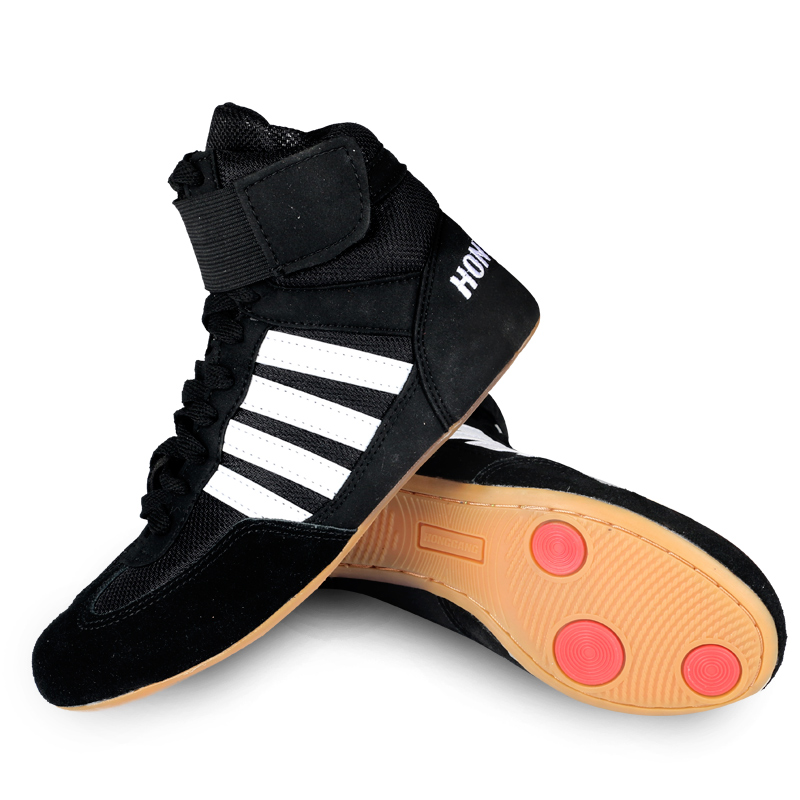Professional Boxing Wrestling Shoes Rubber Outsole Breathable Combat Shoe Sneakers Scarpe Boxe Uomo Size 35-46