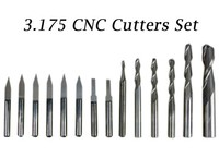 14 Pcs 3 175 Mm Drilling Bits Cutter Carving Knife Tool For PVC Wood Acryl MDF