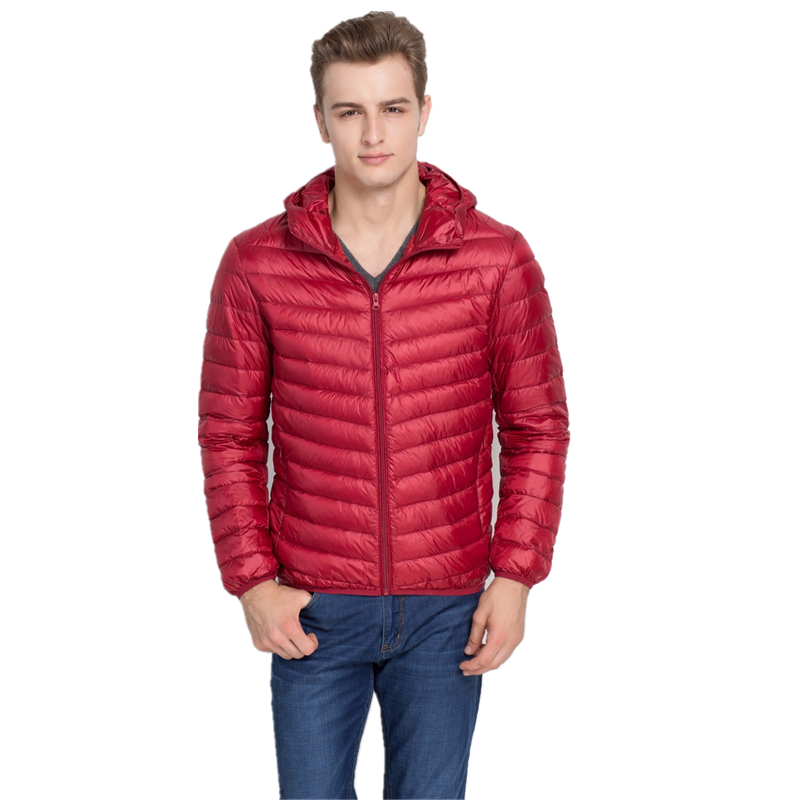 Shanghai Story Autumn Winter Hooded Duck Down Jacket, Ultra Light Thin jacket for men Fashion mens Outerwear coat