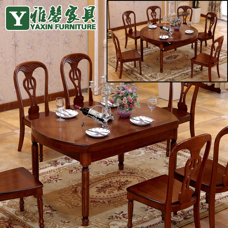 Wood dining tables and chairs combination table folding  : Wood dining tables and chairs combination table folding retractable simple modern imported oak dining table and from www.aliexpress.com size 800 x 800 jpeg 475kB