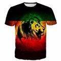 Das Mulheres dos homens Da Listra Do Vintage Imprime t shirts Cool Lions 3D t Feminino camisa Masculina Moda de Rua T Encabeça tee Harajuku camisa