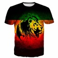Men Women Vintage Stripe Prints t shirts Cool Lions 3D t shirt Male Female Street Fashion Tees Tops Harajuku tee shirt
