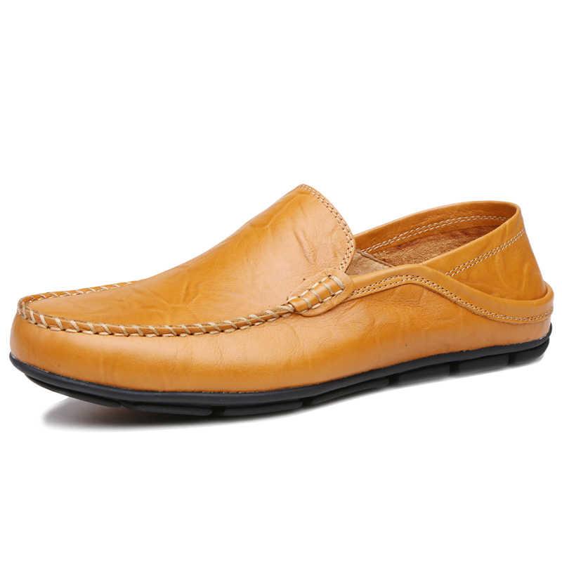 QASDUO/итальянская мужская обувь; Повседневная Роскошная брендовая Зимняя Теплая мужская обувь; лоферы из натуральной кожи; мокасины; дышащие слипоны; водонепроницаемые Мокасины