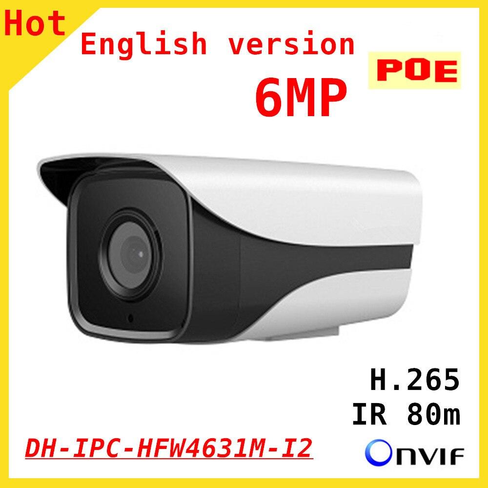 100% Original 6mp DH IP Camera English firmware IR 80M H.265 IPC-HFW4631M-I2 IR Cut HD1080P Support POE DH-IPC-HFW4631M-I2 dahua 6mp poe ip camera ipc hfw4631m i2 ip67 ir 80m h 265 wdr onvif outdoor came