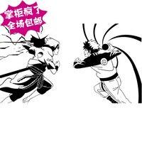 Наруто виниловые наклейки японский мультфильм саске Naruto мальчики искусства настенной росписи наклейка на стену малыша декоративные домаш...