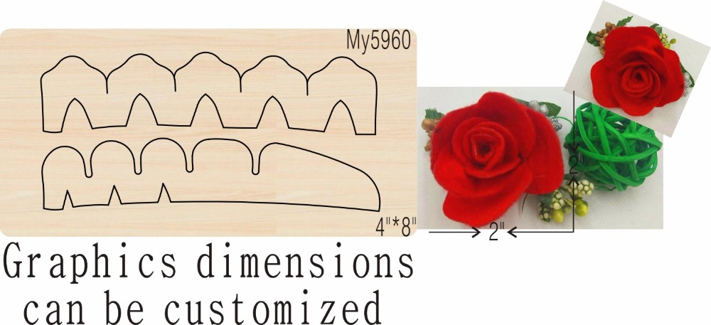 Flower 3 new wooden mould cutting dies for scrapbooking Thickness 15 8mm
