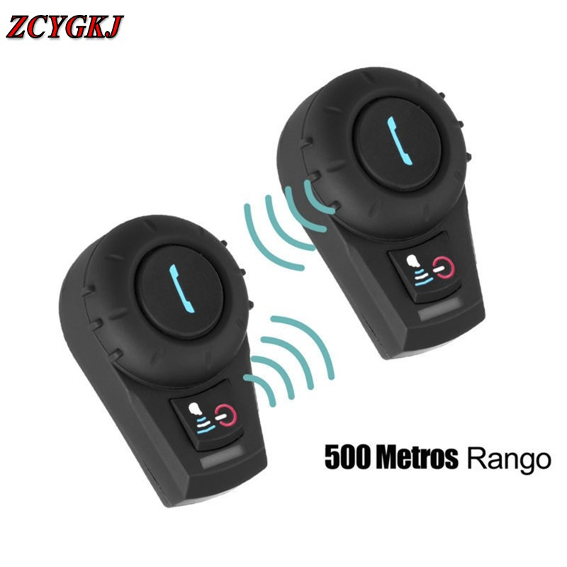 2 pcs FM Radio! marque FDC 500 M Full Duplex Bluetooth Casque Casque Interconnexion BT Interphone pour Moto Ski Mains Libres