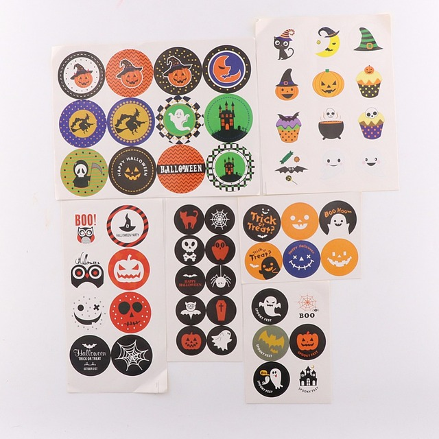 200pcs/set Halloween Stickers Cookies Labels Gift Tags  sc 1 st  AliExpress.com & 200pcs/set Halloween Stickers Cookies Labels Gift Tags-in Baking ...