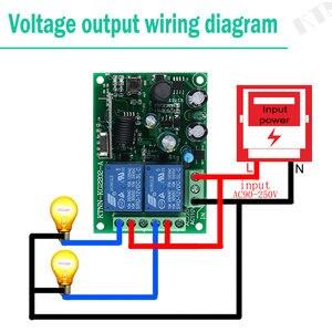 Image 5 - 433 Mhz האלחוטי אוניברסלי מתג AC220V 110V 2CH ממסר מקלט מודול & RF 433 Mhz עבור אור מתג KTNNKG