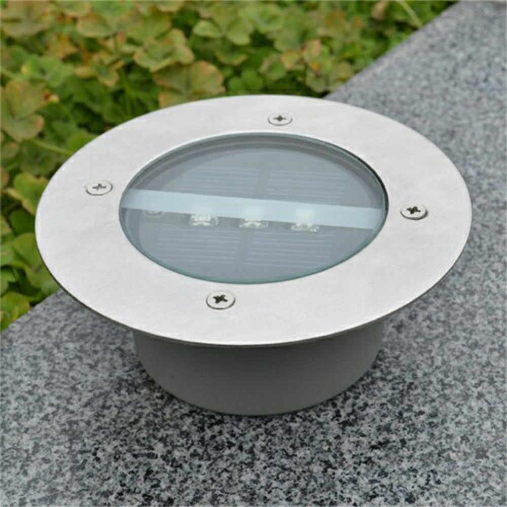 Солнечный грунтовый светильник Водонепроницаемая садовая дорожка настенная лампа с 3 светодиодами Солнечная лампа для дома подъездная дорога газон Road-W517