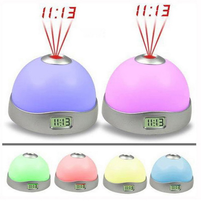 Multi-Colors <font><b>Changing</b></font> Star Sky Night Light LED Magic Digital Projection Starry Alarm Clock <font><b>Time</b></font> Home Table Decoration