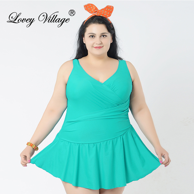4b9fbe1375 Lovey Village Women's Swimwear Flatting Cover Up Monokinis Swimsuit One  Piece Bathing Suits For Women Plus