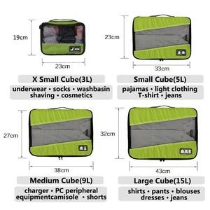 Image 5 - مجموعة من 4 قطع من الشرائط القابلة للتنفس من BAGSMART ، مجموعة مكعبات تنظيم حقيبة الظهر Reizen Bagage ، مقاس 23 بوصة ، حقيبة سفر