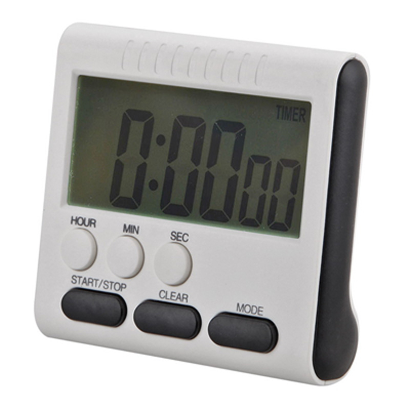 Large LCD Magnetic Digital Timers Kitchen Cooking Timer Count Up Down Alarm Clock 24 Hours Time Reminder with Stand