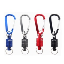 1pcs Fishing tools Magnetic buckle Strong Train Release Net Gear Lanyard cable Pull 3KG accessories pesca